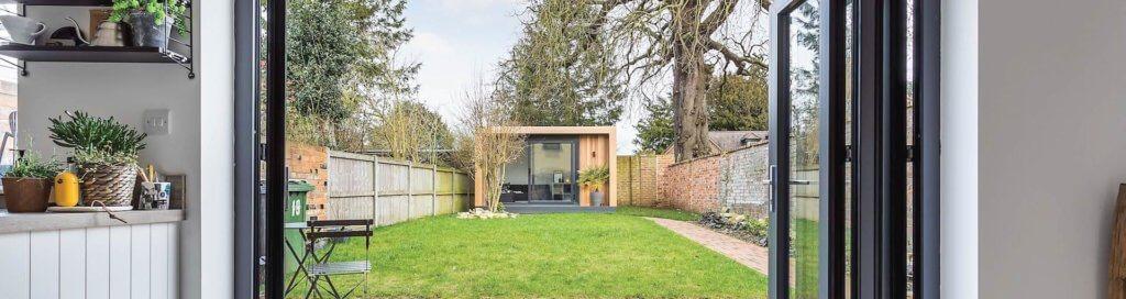 Small Contemporary Garden Room