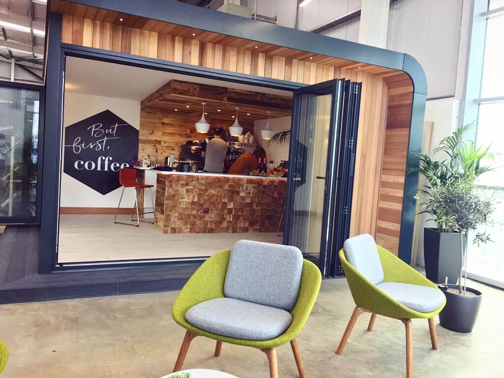 Garden office coffee pod