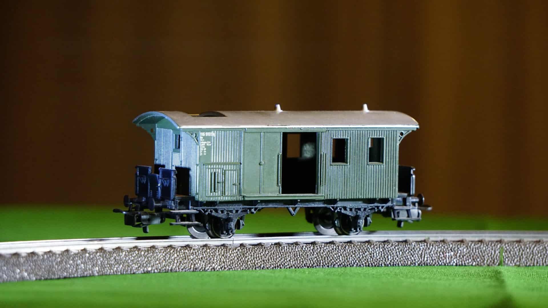 model railway train for a hobby room