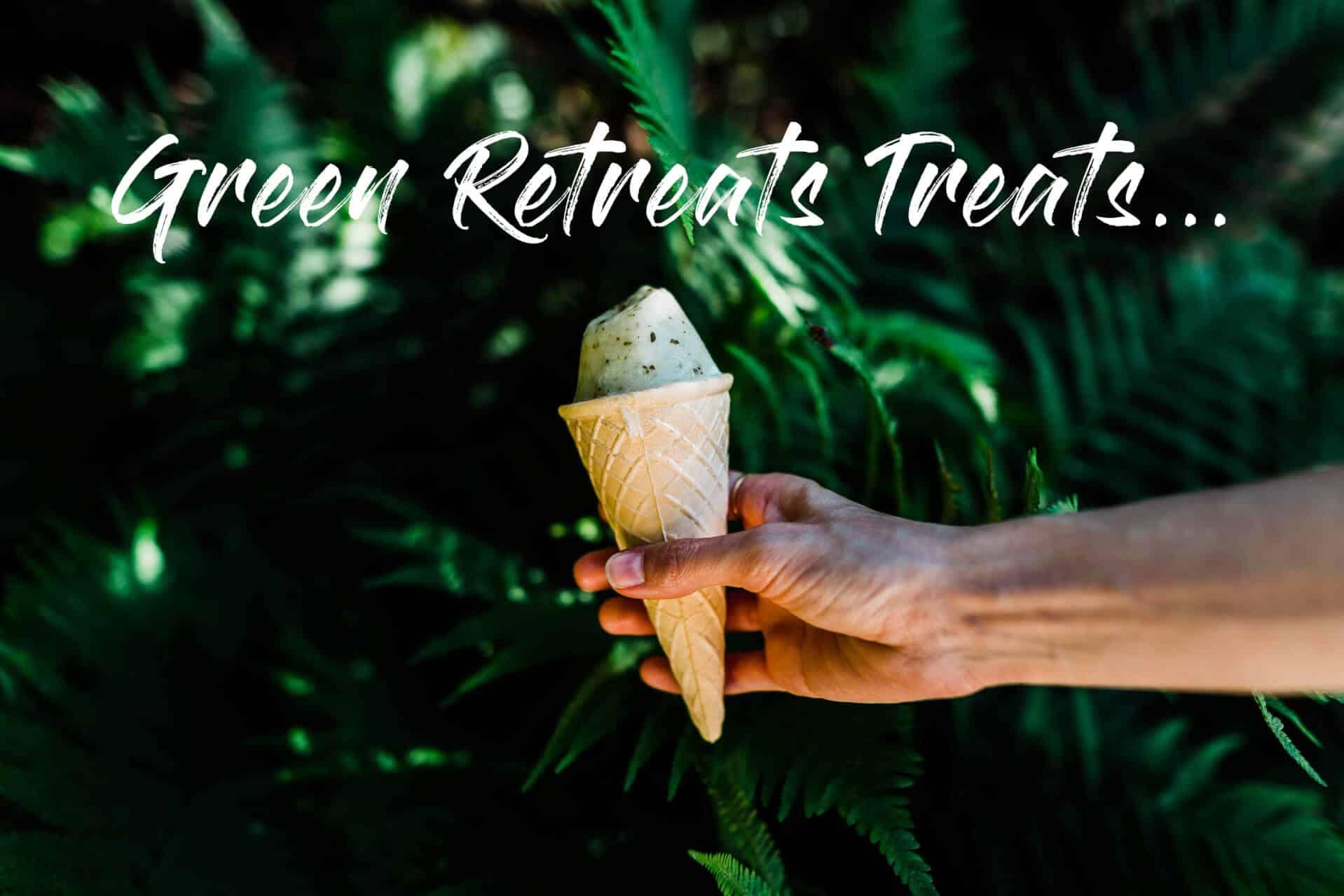 Green reterats event ice cream